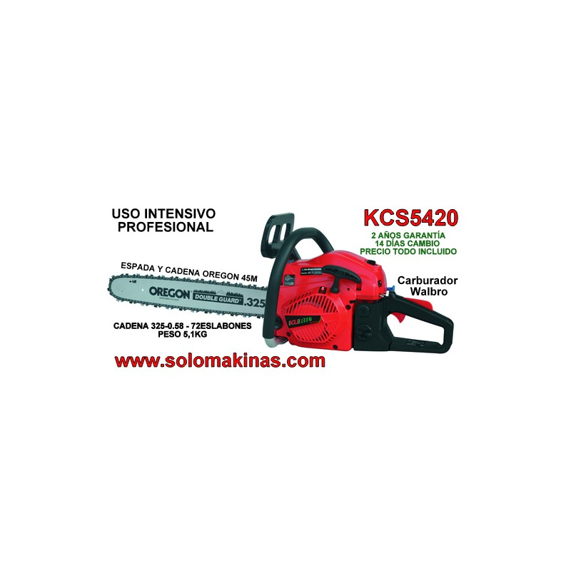 5036ad2c8bff 54CM3 MOTOSIERRA KURIL KCS5420 CADENA 325 - 0.58 - 72 ESLABONES uso ...