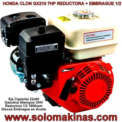 GX160 5.5HP RED + EMBRAGUE...