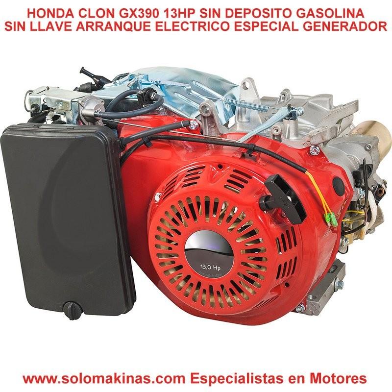 13HP GX390 Ø25X50mm MOTOR GASOLINA 4T/OHV 389 cc/13 C V  ARRANQUE ELÉCTRICO  SIN LLAVE SIN DEPOSITO